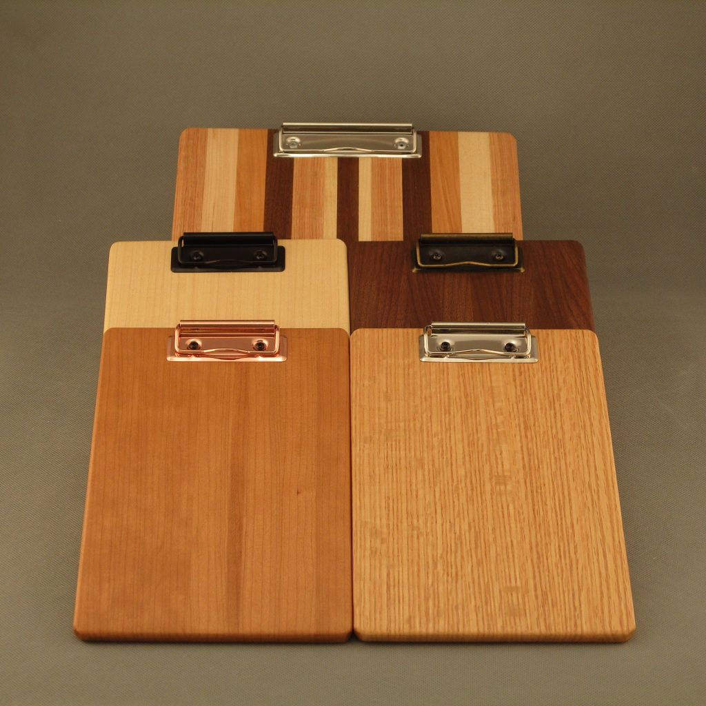 Mini Hardwood Clipboards - Multiple woods and clips
