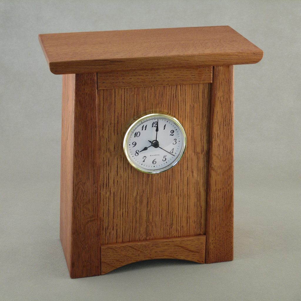Small Arts and Crafts Quarter Sawn Oak Clock