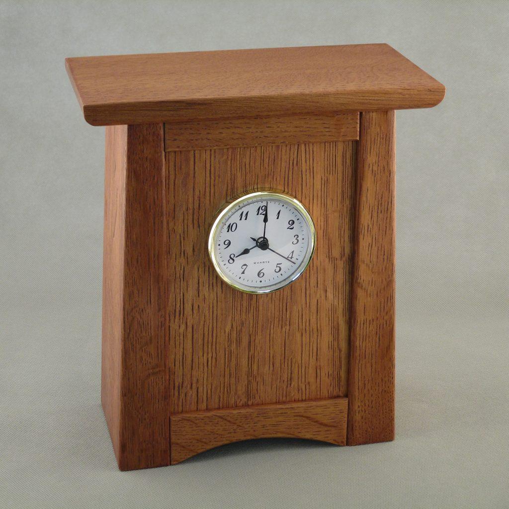 Small Arts and Crafts Quarter Sawn Oak Clock