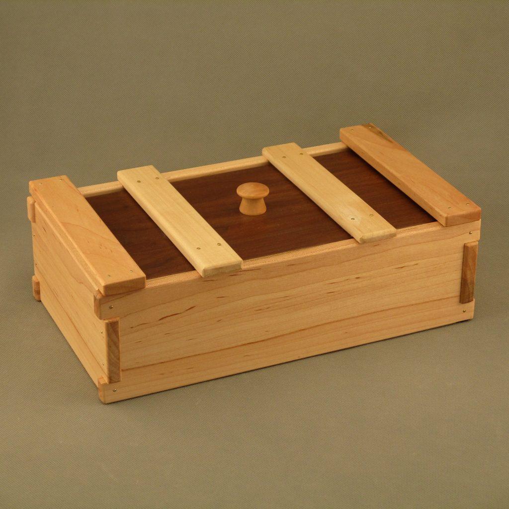 Maple Tea & Coffee Box with Walnut Top